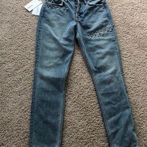 NWT GRLFRND Karolina studded jeans